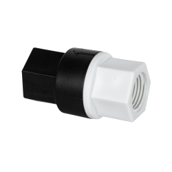 "1/2"" FNPT x 1/2"" FNPT Polypropylene Check Valve with EPDM Seals, 7 PSI Cracking Pressure & Hastelloy Spring"