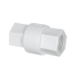 "1/2"" FNPT x 1/2"" FNPT Polypropylene Check Valve with EPDM Seals, 1/3 PSI Cracking Pressure & Hastelloy Spring"