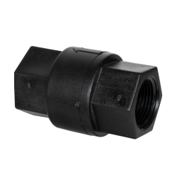 "3/4"" FNPT x 3/4"" FNPT Series 687 Polypropylene Check Valve with Buna-N Seals/No Spring"