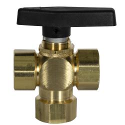 SMC 701 Series 3-Way Brass Ball Valves