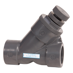 "1"" Threaded SLC Series Spring Loaded Y-Check Valve with EPDM O-rings"