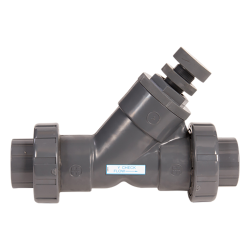 "2-1/2"" Socket SLC Series Spring Loaded True Union Y-Check Valve with FPM O-rings"