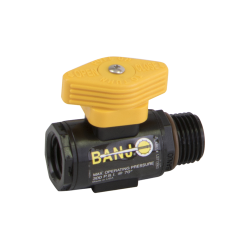 "3/8"" FNPT x 1/2"" MNPT Micro Valve with Locking Handle"