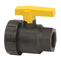 "1-1/4"" Full Port Single Union Valve with 1-1/4"" Flow Size"
