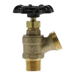 "1/2"" MNPT x 3/4"" GHT No Lead Brass Boiler Drain"