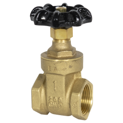 "1"" FNPT No-lead Brass Gate Valve"