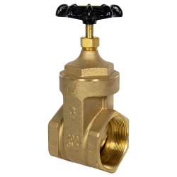 "3"" FNPT No-lead Brass Gate Valve"