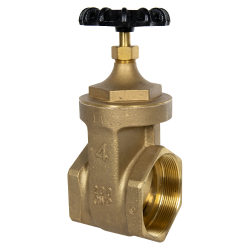 "4"" FNPT No-lead Brass Gate Valve"