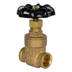 "1/2"" CTS Sweat No-lead Brass Gate Valve"