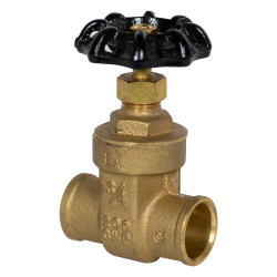"3/4"" CTS Sweat No-lead Brass Gate Valve"