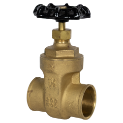 "1-1/2"" CTS Sweat No-lead Brass Gate Valve"