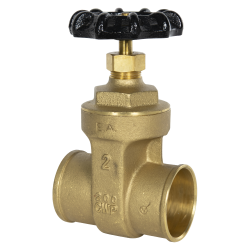 "2"" CTS Sweat No-lead Brass Gate Valve"