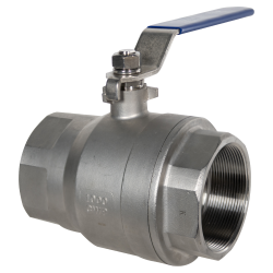 "4"" FNPT 304 Stainless Steel Ball Valve"