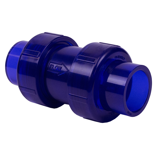 True Union Low Extractable PVC Ball Check Valves
