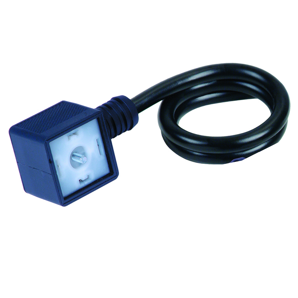 ISO2+ 6-24v AC/DC 50/60Hz Dual Ground Solenoid Valve Connector