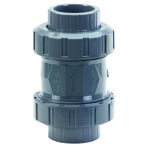 "3/4"" PVC 561 True Union Cone Check Valve with FPM Seals"