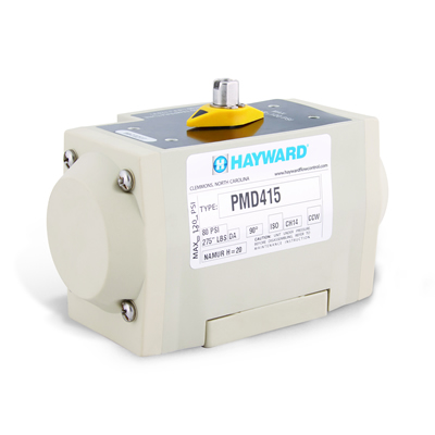 Hayward® PMD4 Glass Filled Polypropylene Air to Air Pneumatic Actuators