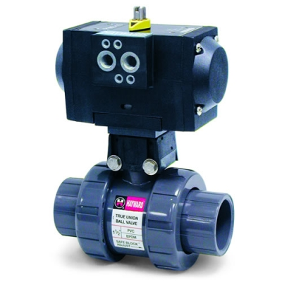 Hayward® PMDTB & PMSTB Series Pneumatic Actuators & True Union Ball Valves