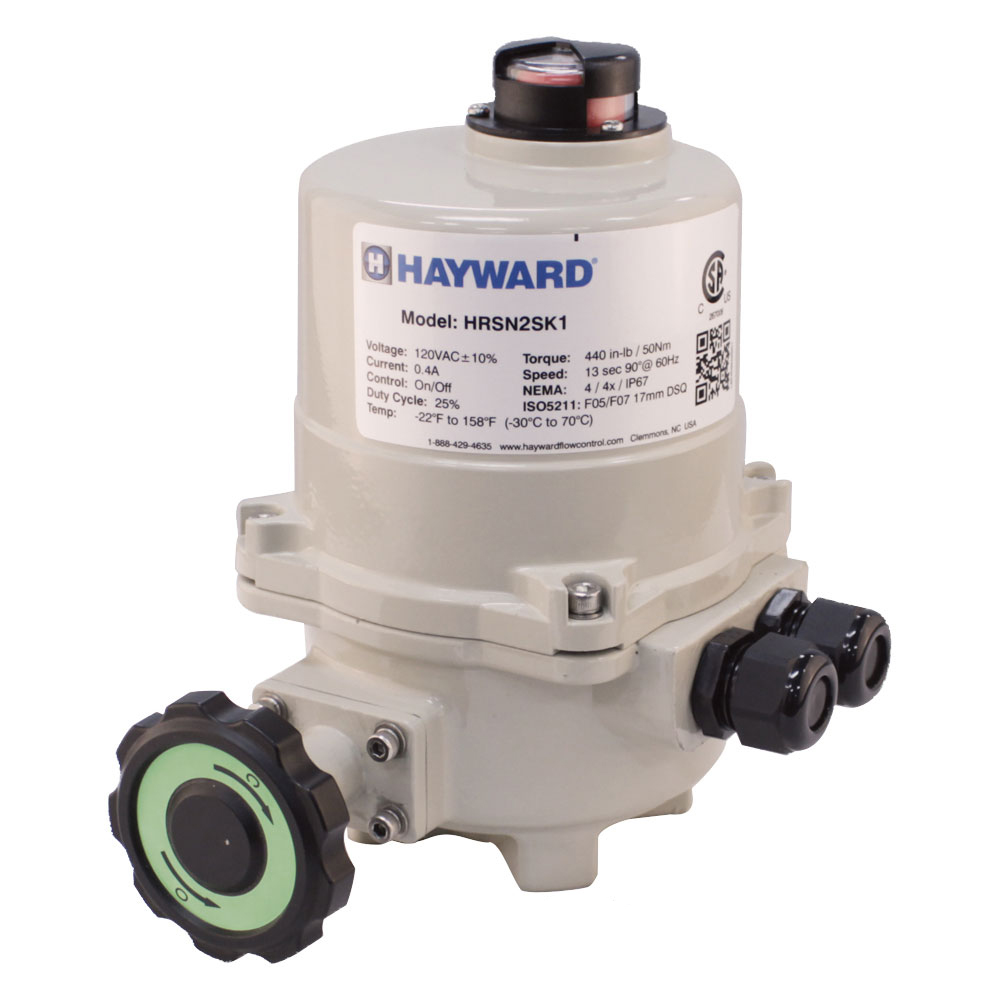 Hayward® HRSN2 Series Quarter Turn Electric Actuator with On/Off/Jog Control