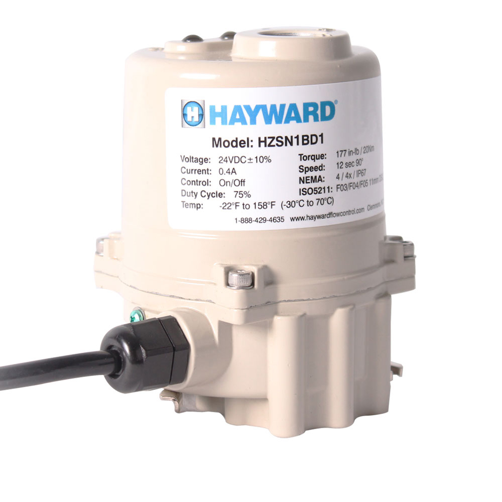 Hayward®  HZSN1 Series Quarter Turn Mini Electric Actuators