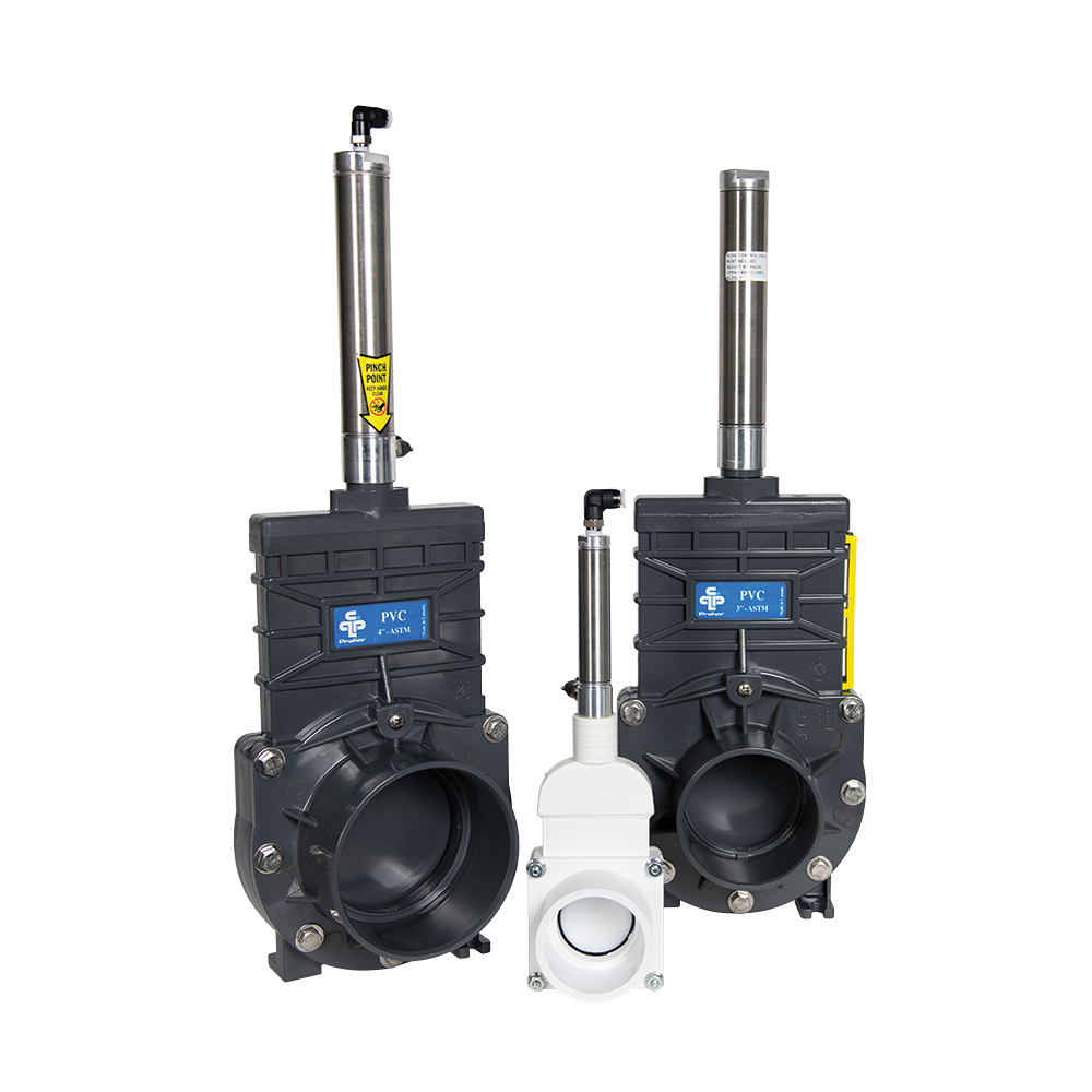 Praher Knife Gate Valves with Air Actuators