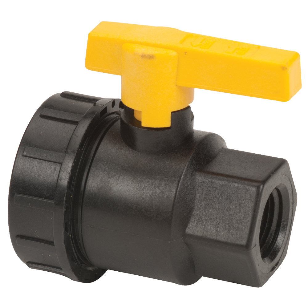 "1/2"" Full Port Single Union Valve with 3/4"" Flow Size"