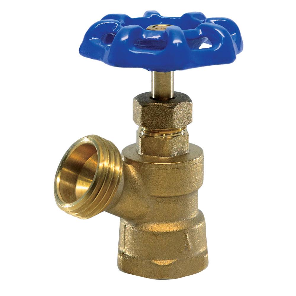 "1/2"" FNPT x 3/4"" GHT Brass Boiler Drain"