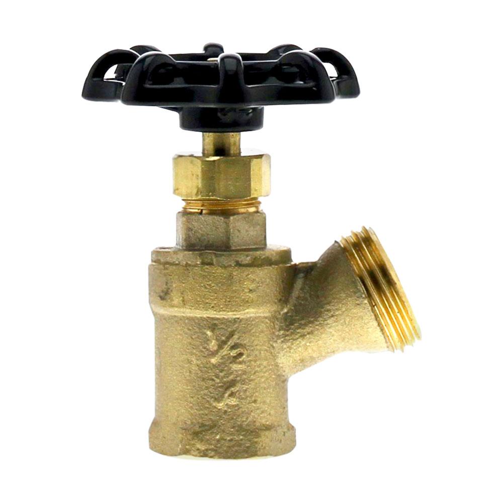 "1/2"" FNPT x 3/4"" GHT No Lead Brass Boiler Drain"