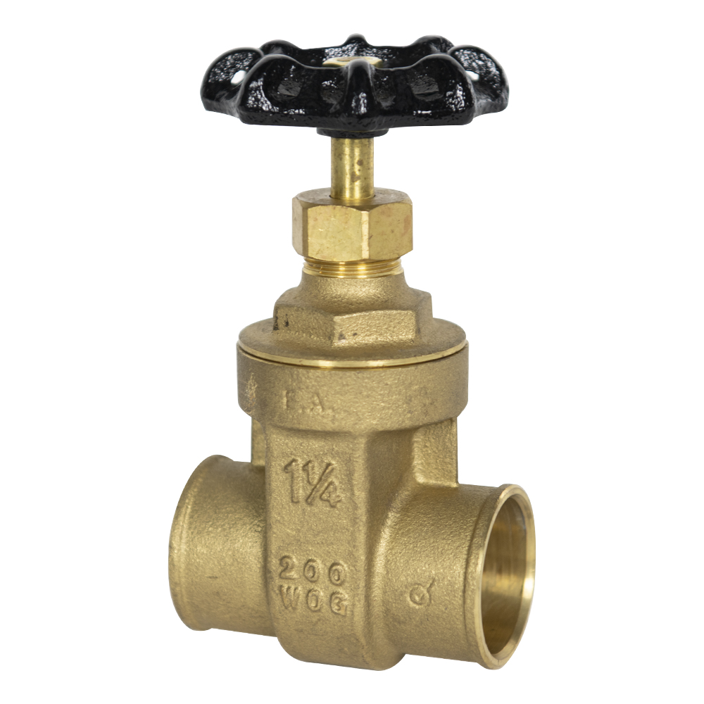 "1-1/4"" CTS Sweat No-lead Brass Gate Valve"