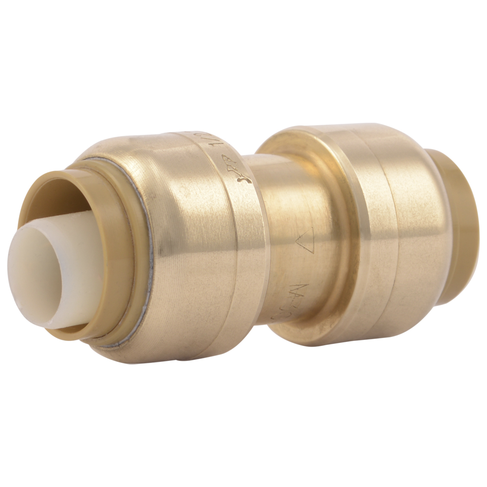 "1/2"" Push-to-Connect x 1/2"" Push-to-Connect SharkBite® Brass Coupling"