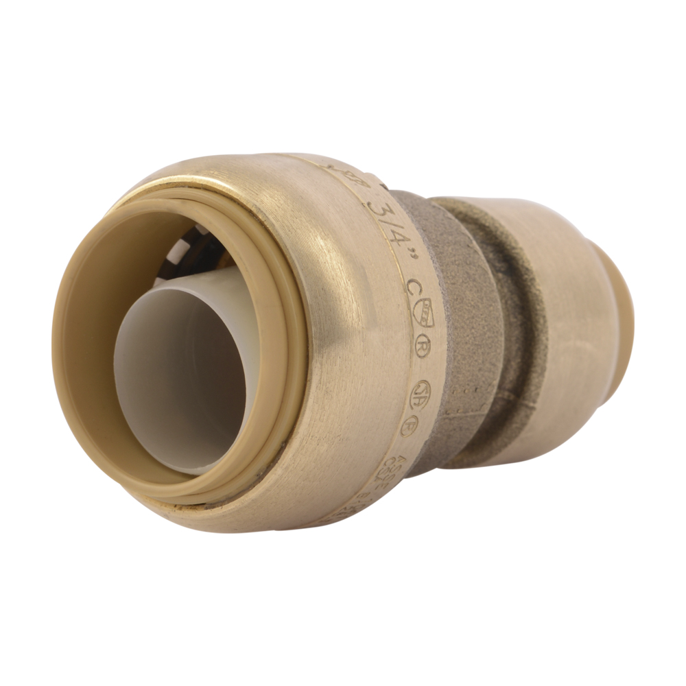 "1"" Push-to-Connect x 3/4"" Push-to-Connect SharkBite® Brass Reducing Coupling"