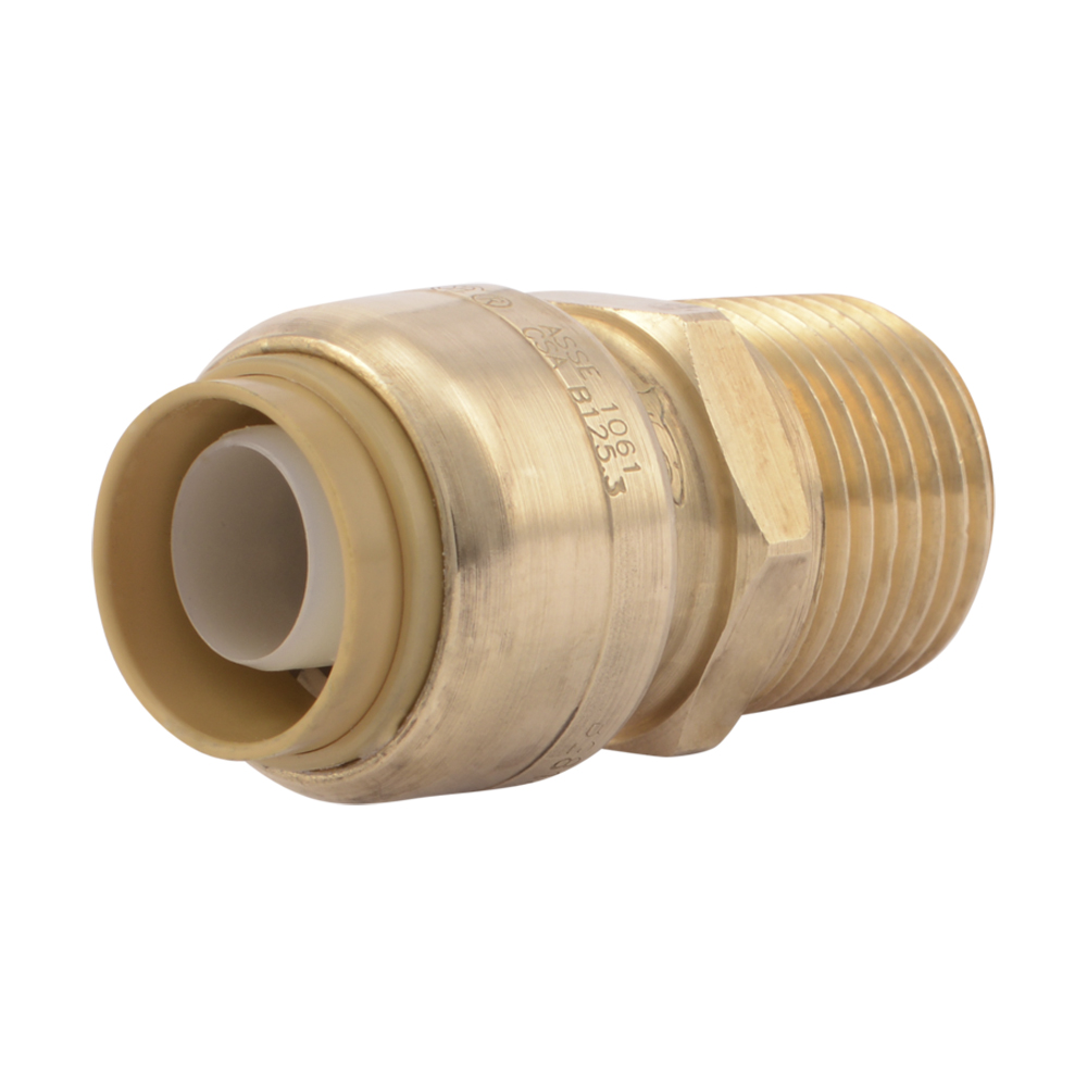 "1"" Push-to-Connect x 1"" MNPT SharkBite® Brass Male Connector"