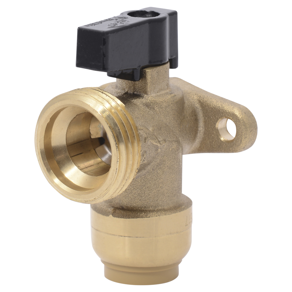 "1/2"" Push-to-Connect x 3/4"" MHT SharkBite® Brass Angle Valve"