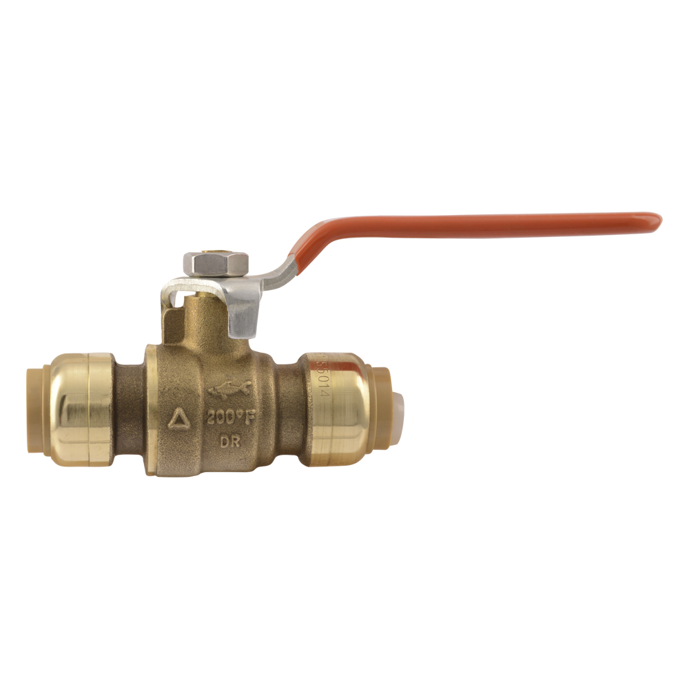 "3/4"" Push-to-Connect x 3/4"" Push-to-Connect SharkBite® Brass Ball Valve"