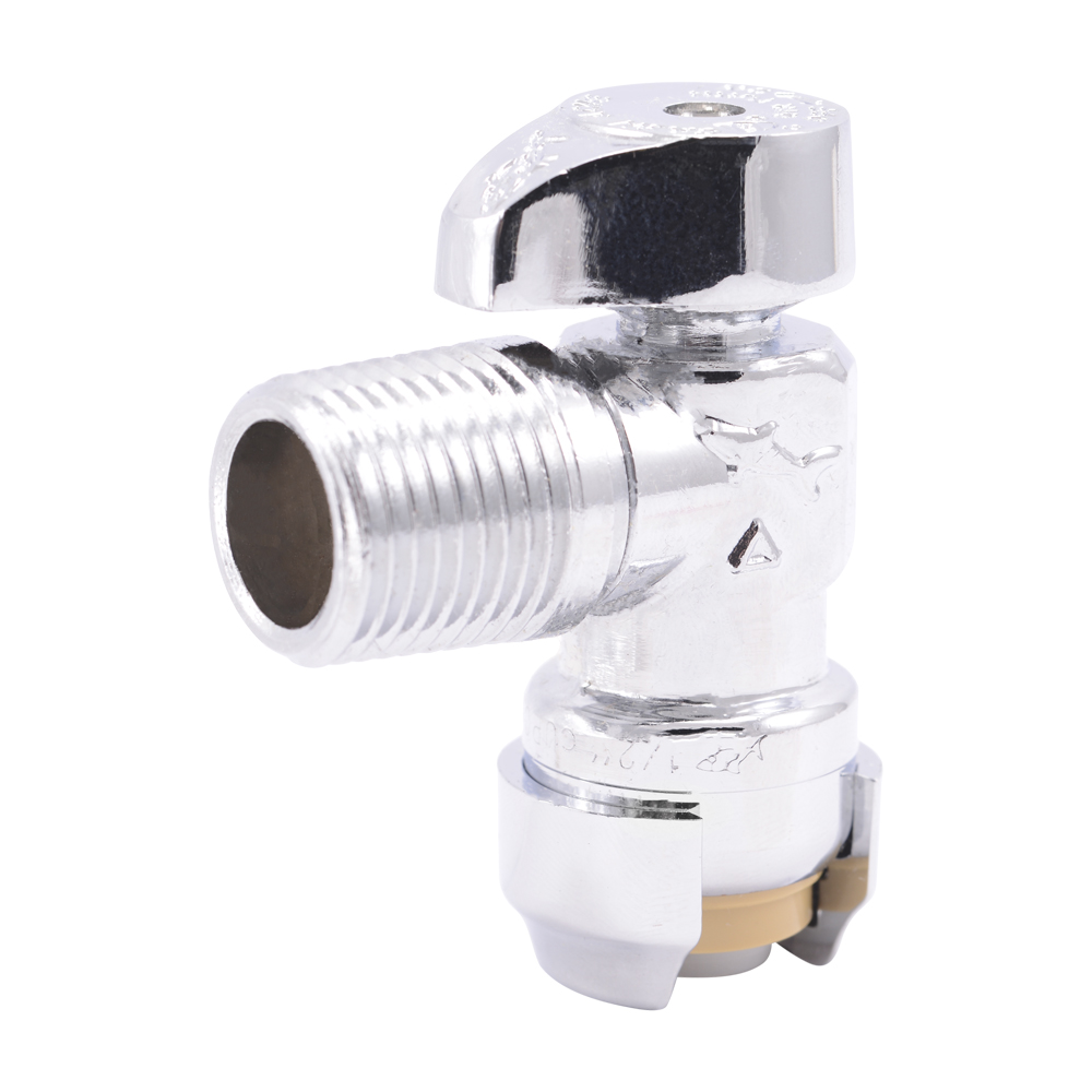 "1/2"" Push-to-Connect x 1/2"" MIP SharkBite® Brass Angle Stop Valve"