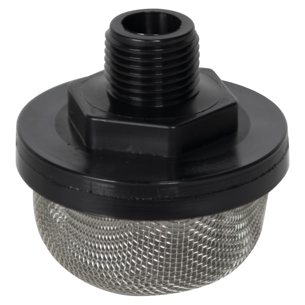 "1/2"" MNPT x 20 Mesh x 2.385"" Dia. Nylon/Stainless Steel Suction Strainer"