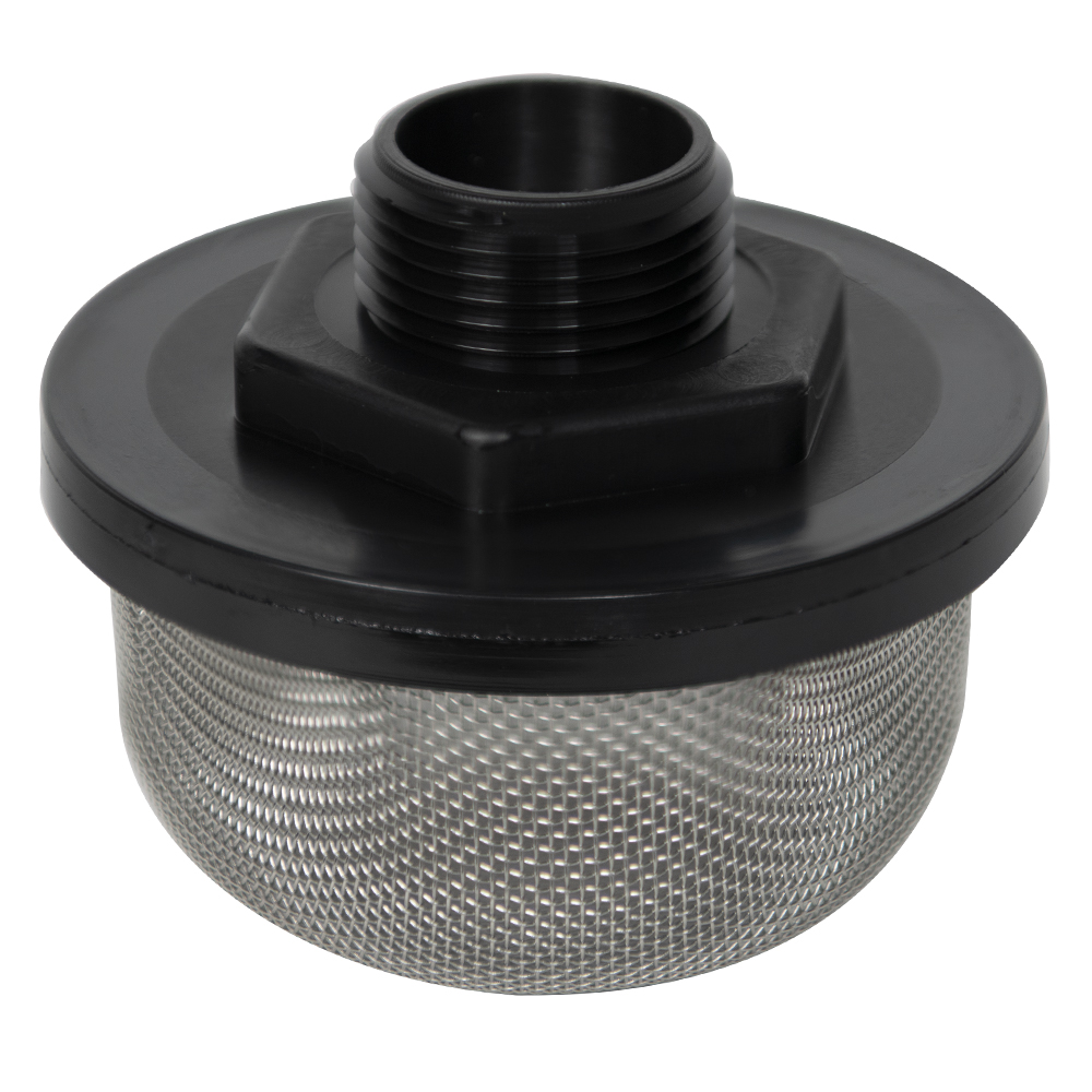 "1"" MNPT x 20 Mesh x 3.5"" Dia. Nylon/Stainless Steel Suction Strainer"