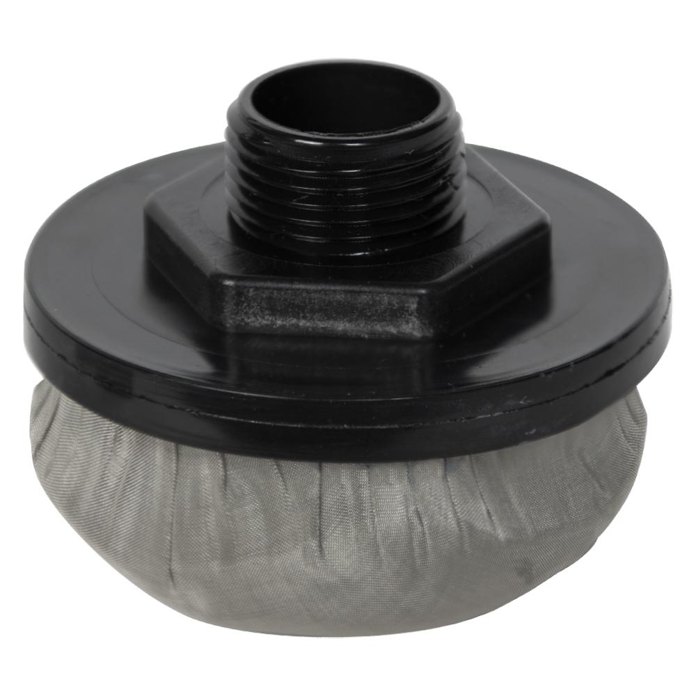 """1"""" MNPT x 100 Mesh x 3.5"""" Dia. Nylon/Stainless Steel Suction Strainer"""