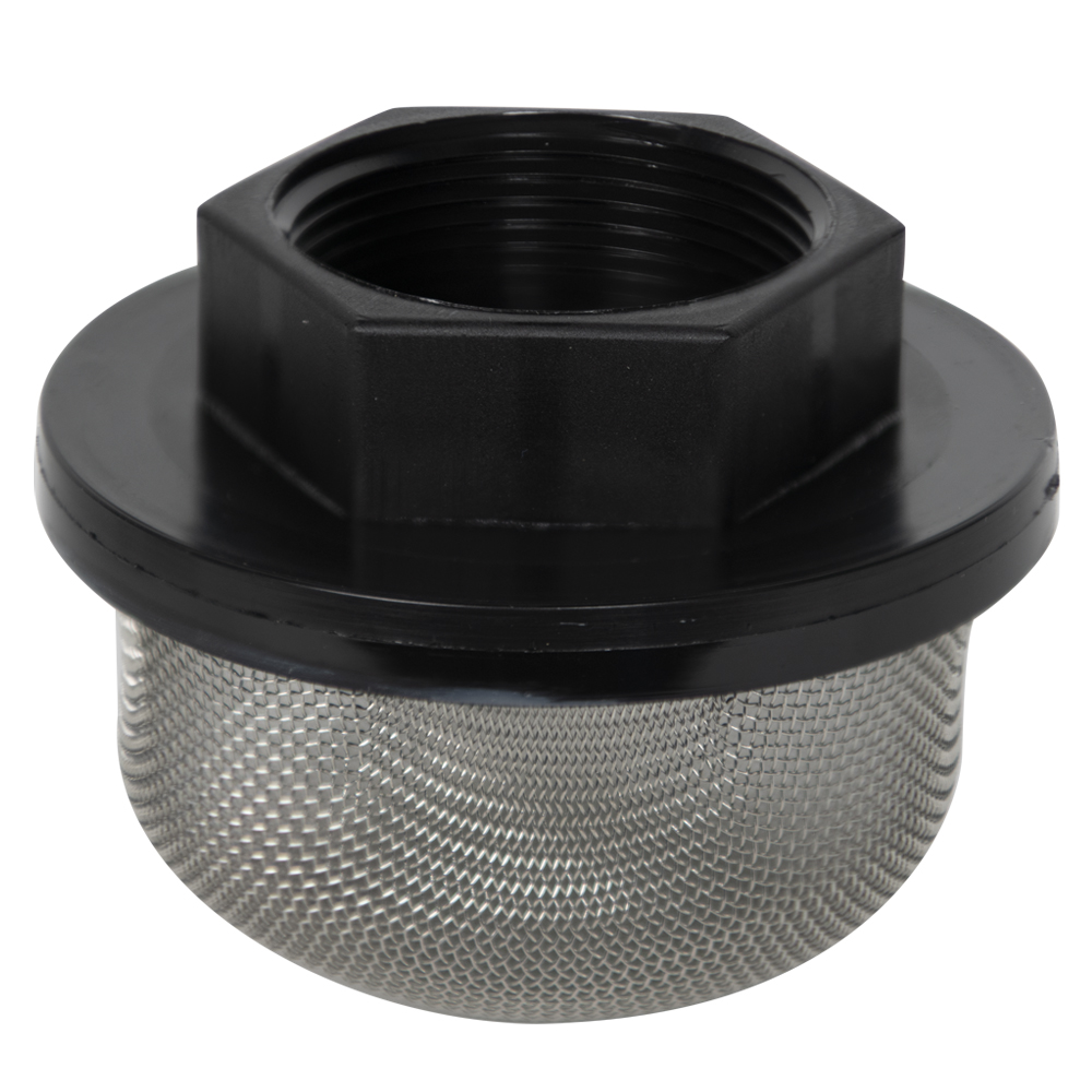 "1-1/2"" FNPT x 20 Mesh x 3.5"" Dia. Nylon/Stainless Steel Suction Strainer"
