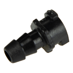 5mm Hose Barb ABS Straight Thru Inline Coupling Body - Black