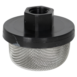 "3/8"" FNPT x 20 Mesh x 2.385"" Dia. Nylon/Stainless Steel Suction Strainer"