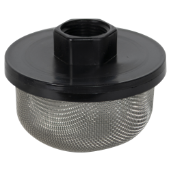 "3/4"" FNPT x 20 Mesh x 3.5"" Dia. Nylon/Stainless Steel Suction Strainer"