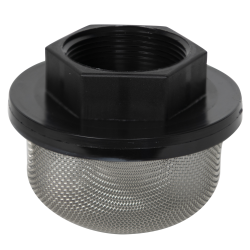 "1-1/4"" FNPT x 100 Mesh x 3.5"" Dia. Nylon/Stainless Steel Suction Strainer"