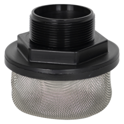 "2"" MNPT x 20 Mesh x 4.2"" Dia. Nylon/Stainless Steel Suction Strainer"