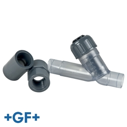 GF VC Y-Check Clear PVC Valves