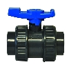 "2-1/2"" Socket/Threaded PVC Economy True Union Ball Valve with EPDM O-rings"