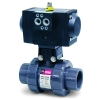 "2"" PMD Series Pneumatic Actuator & True Union PVC Ball Valve w/FPM"