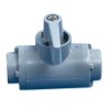 "1/8"" FNPT x 1/8"" FNPT Series 226 PVC Ball Valve with Buna-N Seals"