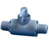 "1/4"" MNPT x 1/4"" MNPT Series 226 PVC Ball Valve with Buna-N Seals"