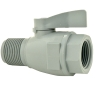 "3/4"" FNPT x 3/4"" MNPT Series 074 PVC Two-Way Ball Valve with Viton™ Seals"